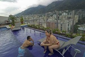 Venezuela Caracas : Caracas, Venezuela. Saturday on the roof of Pestana Hotel