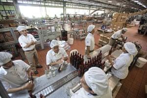 Venezuela Caracas : Santa Teresa rum bottling plant in Venezuela