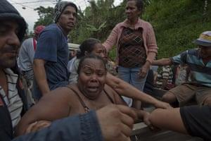 Venezuela Caracas : A family whose house was destroyed in mudslide in Caracas Venezuela