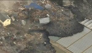 Japan earthquake: The tsunami caused by the earthquake in Sendai, Japan