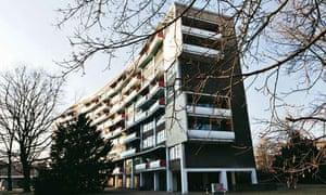 German apartment: the block exterior