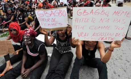 Ivory Coast women protest