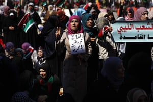 Benghazi Protests: Anti-Gaddafi protesters attend Friday prayers in Benghazi