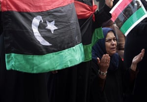 Benghazi Protests: Protester attends Friday prayers in Benghazi