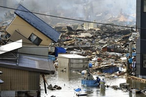 Japan - the day after: Residents rescued