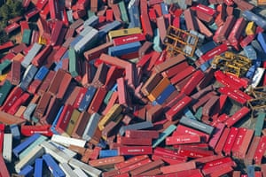 Japan - the day after: Container cargo