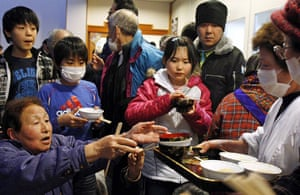 Japan - the day after: Evacuees from the area around the Fukushima Daiichi Nuclear Plant