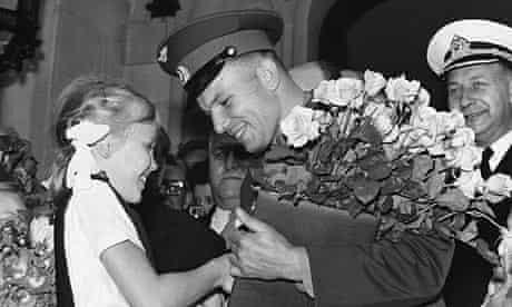 Yuri Gagarin in London in July 1961