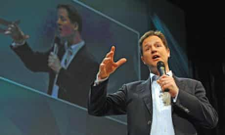 Nick Clegg at the Liberal Democrats' spring conference