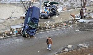 Japan earthquake and tsunami - aftermath in Miyagi prefecture