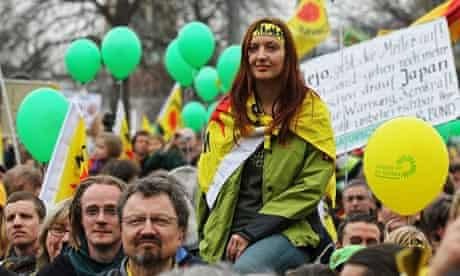 Anti-Nuclear Power Protesters in Stuttgart