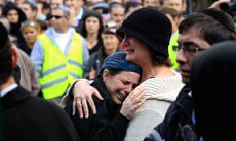 Funeral of Fogel family in Jerusalem