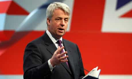Andrew Lansley at Conservative party Welsh spring conference