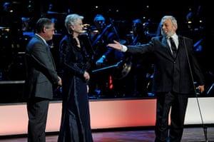 Olivier awards: Stephen Sonheim and Angela Lansbury at the Olivier awards 2011