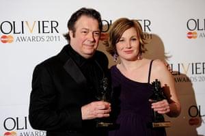Olivier awards: Roger Allam and Nancy Carroll at the Olivier awards 2011