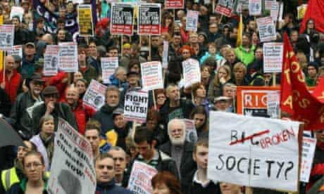 An anti-cuts protest in Birmingham