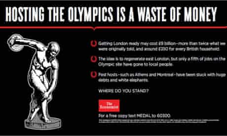 The Economist ad asks if the Olympics is a waste of money
