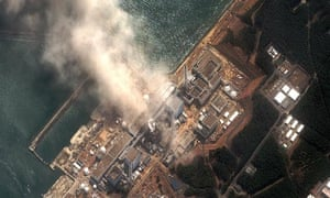 Fukushima nuclear power plant from the air, 14 March