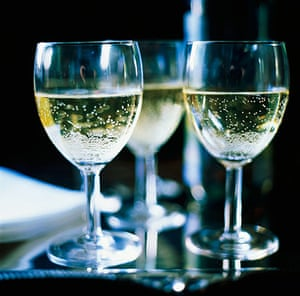 Inflation Basket: Three Glasses of Sparkling White Wine