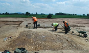 Archaeologists working at a quarry in Shropshire have found a road dated to the first century BC