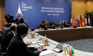 The G8 ministers' meeting in Paris