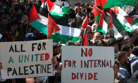Gaza and West Bank protests demand end to Palestinian divisions ...