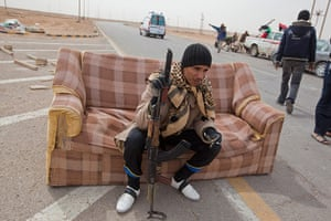 Sean Smith, Libya: A check point on the way to the front line at Ajdabiya