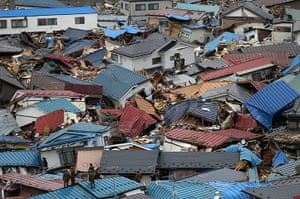 Japan rescue work: Aftermath of Earthquake and Tsunami, Japan - 15 Mar 2011