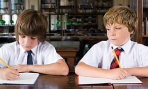 Schoolchildren at work