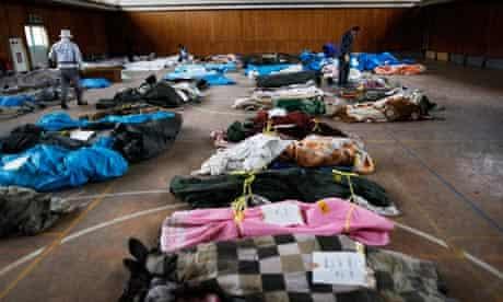 Japan earthquake and tsunami: humanitarian relief effort struggles
