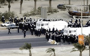 Bahrain uprising: Gulf Cooperation Council (GCC) forces move in to Pearl Square