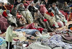 japan disatster: Elderly evacuees