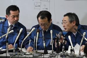 Japan Earthquake: Tokyo Electric Co. employees
