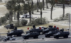 Bahrain uprising: Gulf Cooperation Council (GCC) forces move into Pearl Square