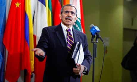 Nawaf Salam, Lebanese Ambassador to the UN, calls for a no-fly zone over Libya