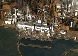 Japan: Damage at the Fukushima Dai Ichi Power Plant in Japan in a satellite image