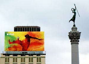 in pictures: difference: advertising and statue