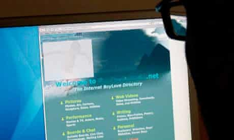 Online paedophile network