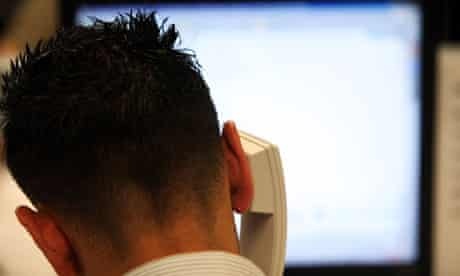 A call centre worker