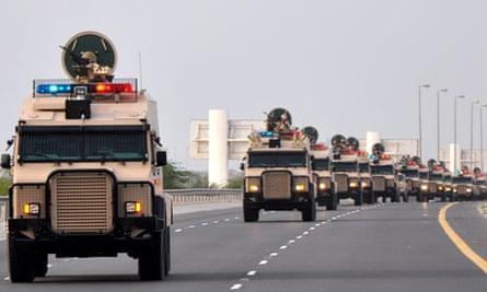 Saudi troops Bahrain