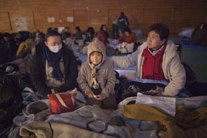 Japan aftermath: Refugee centre for the homeless in Kesennuma, Miyagi province