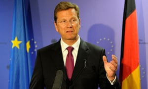Guido Westerwelle, the German foreign minister