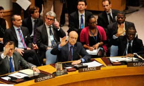 UN security council vote for a no-fly zone over Libya