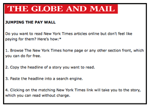 Cheeky guide on how to jump paywalls | Media | The Guardian