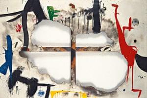 Joan Miró : Burnt Canvas I, 1973