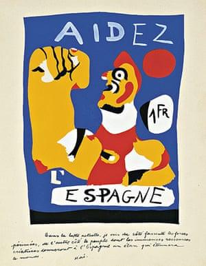 Joan Miró : Help Spain (Aidez l'Espagne), 1937