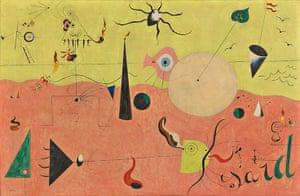 Joan Miró : The Catalan Landscape (The Hunter), 1923-4