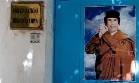 Muammar Gaddafi poster in Tripoli