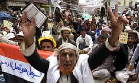 Yemeni anti-government demonstrators