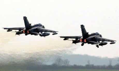 Tornado fighter jets take off from RAF Marham in Norfolk